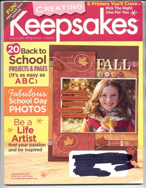 Creating Keepsakes Scrapbook Magazine March April 2012 creating keepsakes scrapbooking craft magazine september 2007 near mint