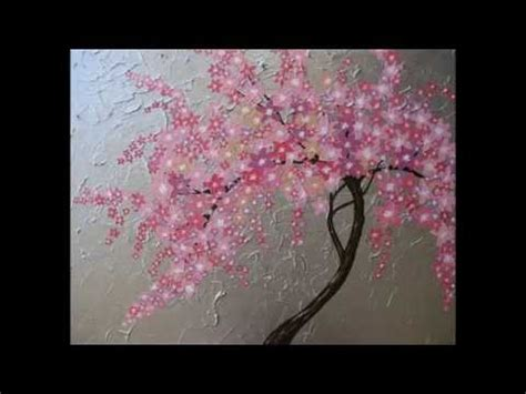 sakura flower mural wall painting youtube cherry blossom painting by painted fingers how to paint