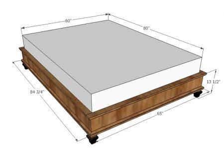 Diy King Platform Bed Frame Diy King Bed Frame Diy Pinterest