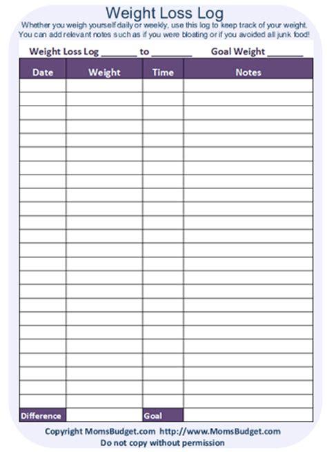 weight loss log worksheet printable worksheet