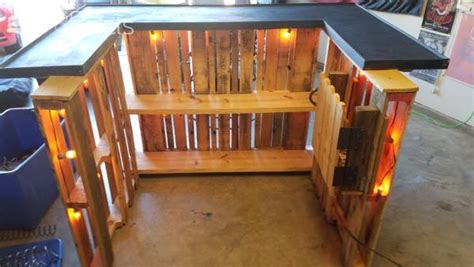 how to make a bar top out of wood have 3 pallets make one pallet bar 1001 pallets