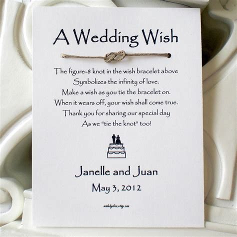 Wedding Wishes Official by Infinity Knot A Wedding Wish With And Groom On A