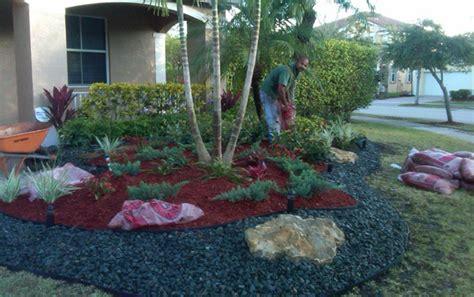 rock garden in florida garden landscape design broward south florida home