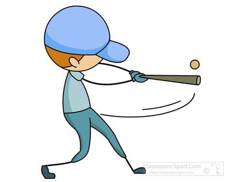 hitting a baseball clipart stick figure boy hitting a baseball with bat classroom clipart