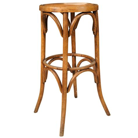 bent wood bar stool continental bentwood bar stool with leather seat at 1stdibs