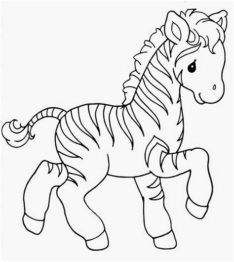 zebra coloring pages free animal baby zebra coloring pages