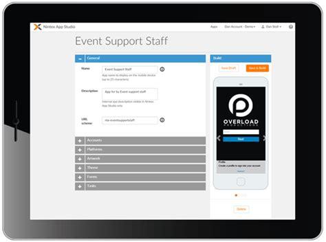 create mobile applications mobile digital workflow automation nintex app studio
