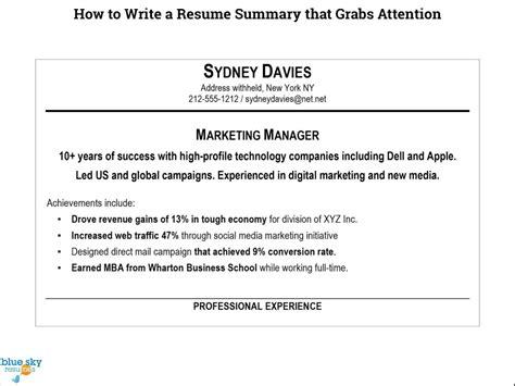 how to write cute resume summary example free career resume template