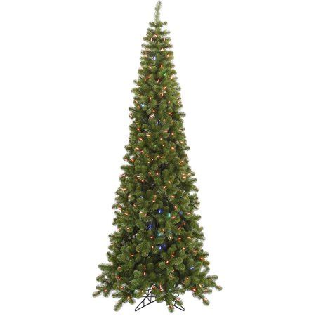 vickerman pre lit 7 5 pencil pine artificial tree led color change lights walmart