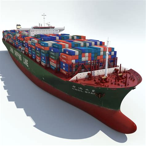 boat shipping line 3ds max container ship