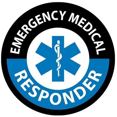 Emergency Medical Responder Hard Hat Labels