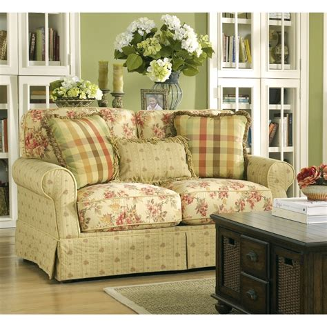country cottage style sofas ella spice loveseat 6800135 ashley furniture rooms
