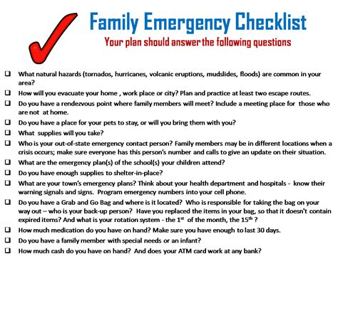 how to make a family emergency plan