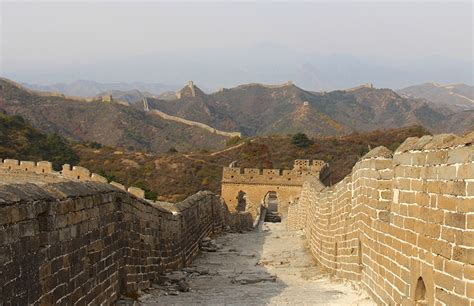 sections of the great wall sneaking onto remote sections of the great wall of china