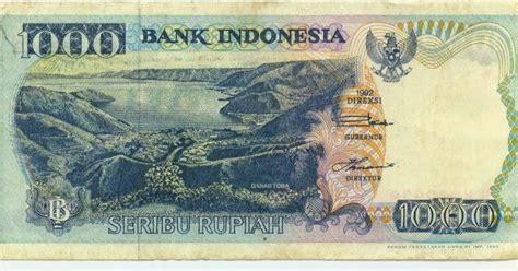 Uang Kuno 1000 Rupiah Tahun 1992 1998 Series 5 uang kertas 1000 rupiah 1992 danau toba lompat batu