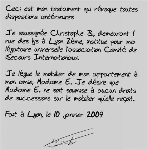 Modeles De Lettre Testament Visuel Modele Redaction D Un Testament Olographe