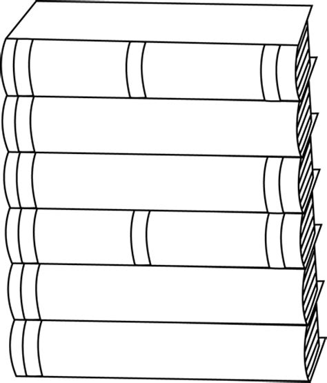 black and white stack of books clip art black and white