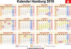 Kalender 2018 Zum Ausdrucken Mit Ferien Hamburg Kalender 2018 Hamburg Ferien Feiertage Excel Vorlagen