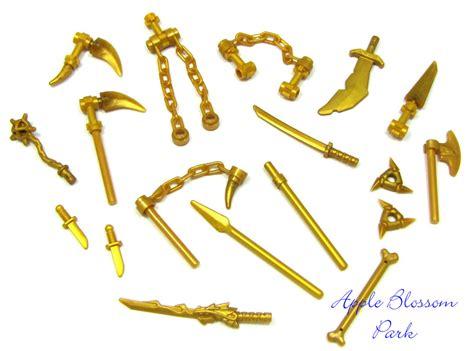 Figure Weapon Set Sword 2 new lego ninjago minifig gold weapon set w golden
