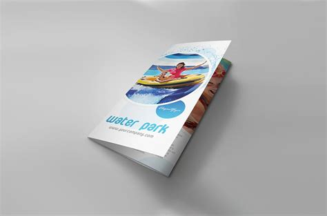 mockup design for brochure set of tri fold brochure mockups mockupworld