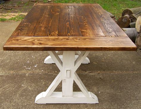 farm house table kent dining table trestle x farmhouse by wonderlandwoodworks