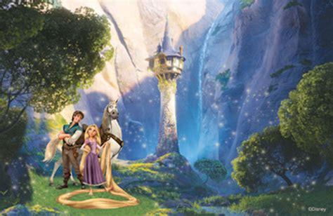 Princess Castle Wall Mural disney tangled let your hair down mural