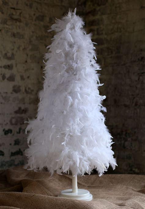 7 foot white feather tree white christmas