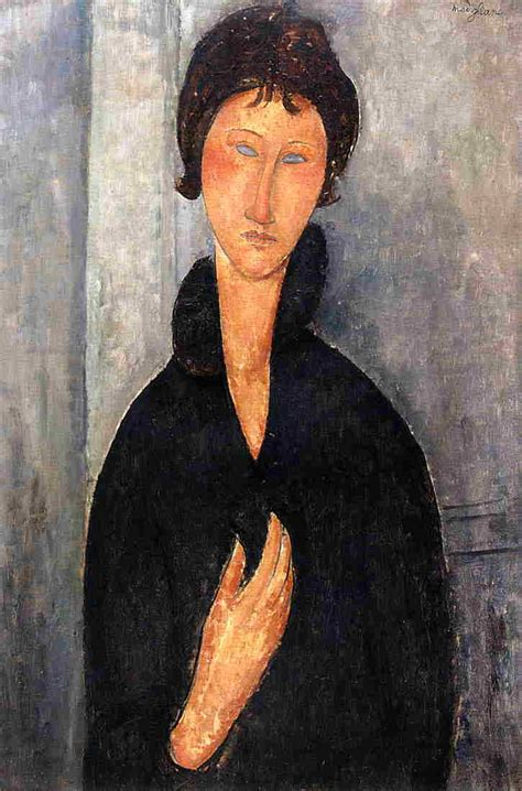 modigliani woman with a woman with blue eyes 1918 by amedeo modigliani
