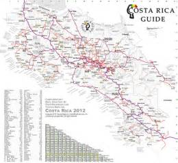 detailed road map of costa rica costa rica orographie karte