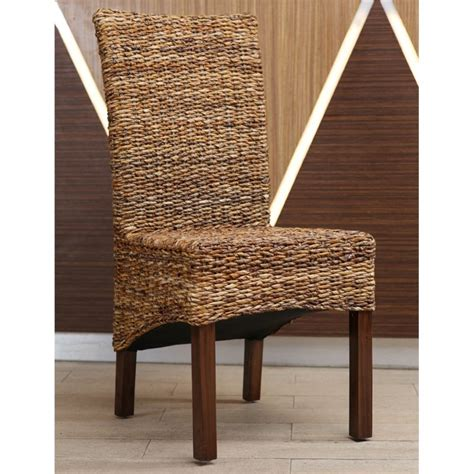 Abaca Dining Chairs Gaby Woven Abaca Dining Chair Set Of 2 Sg 3302 2ch