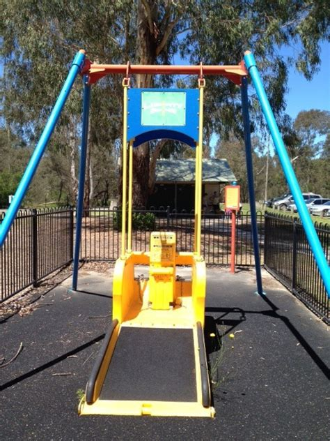 swing for disabled child 5 great all abilities playgrounds in melbourne melbourne