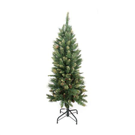 walmart pencil christmas trees artificial 4 5 pre lit yorkville pine pencil artificial tree multicolored lights walmart