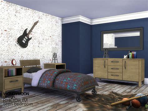 spacesims alaric bedroom rhodium teen bedroom by wondymoon teh sims