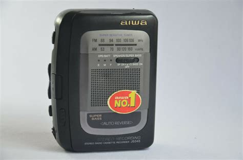 aiwa cassette player aiwa stereo radio cassette recorder hs js345 personal