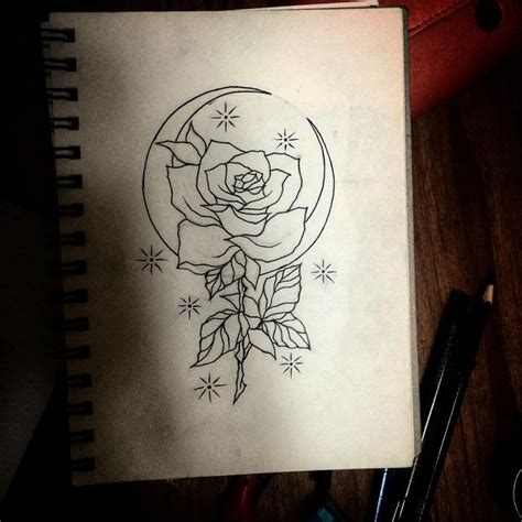 moon flower tattoo design moon and design ideas