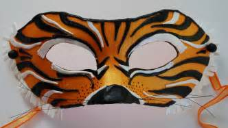 How To Make A Tiger Mask Out Of Paper - more monday masks rarelizzie s