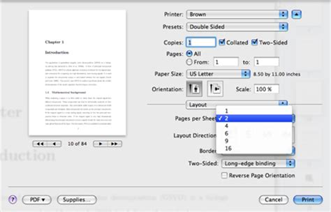 print layout excel mac printing multiple pages per sheet mac os x