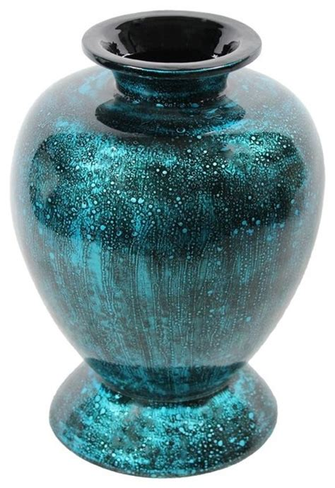 Teal Vase by Teal Lacquer Bamboo Vase Sku En30493 Vases By Essential Decor Inc