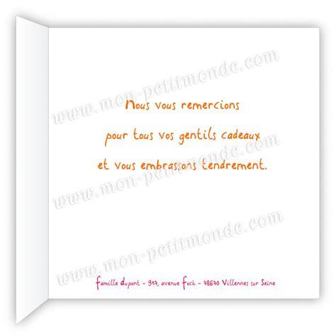 Exemple De Lettre De Remerciement Cadeau De Naissance Carte De Remerciement Naissance Abby Mon Petitmonde