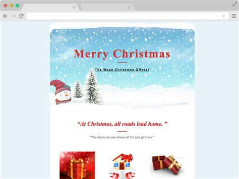 christmas themes for emails christmas email responsive christmas email template