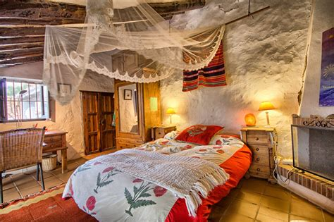 rustic cottage at malaga spain farmhouse bedroom