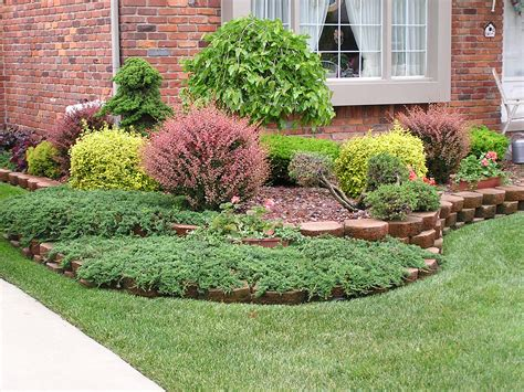 Small Front Yard Landscaping House Design With Various Plants For Front Garden Ideas