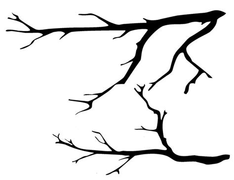 printable tree branch stencil www imgkid com the image