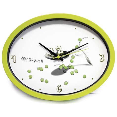 horloges murales cuisine horloge cuisine quot ludik quot verte