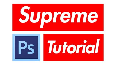 Supreme Text Box how to supreme box logo in photoshop