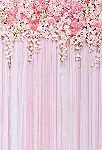 Amazon.com : Pink Flowers Backdrop Photography Background