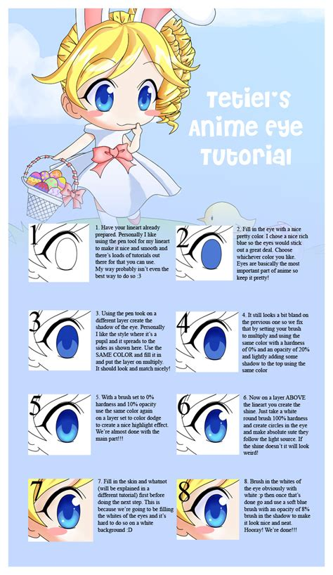 anime lineart tutorial photoshop anime eyes tutorial by tetiel on deviantart