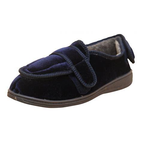 washable slippers for dr lightfoot mens memory foam velcro washable slippers