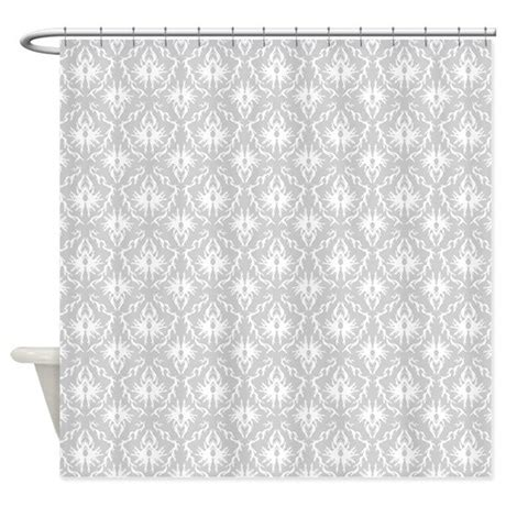 grey damask shower curtain gray damask pattern shower curtain by metarla