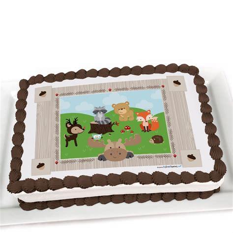 woodland creatures edible cake topper